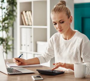 woman establishing a budget