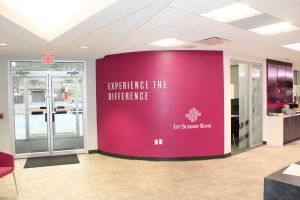 inside the Richland office of 1ST SUMMIT BANK in Johnstown, PA